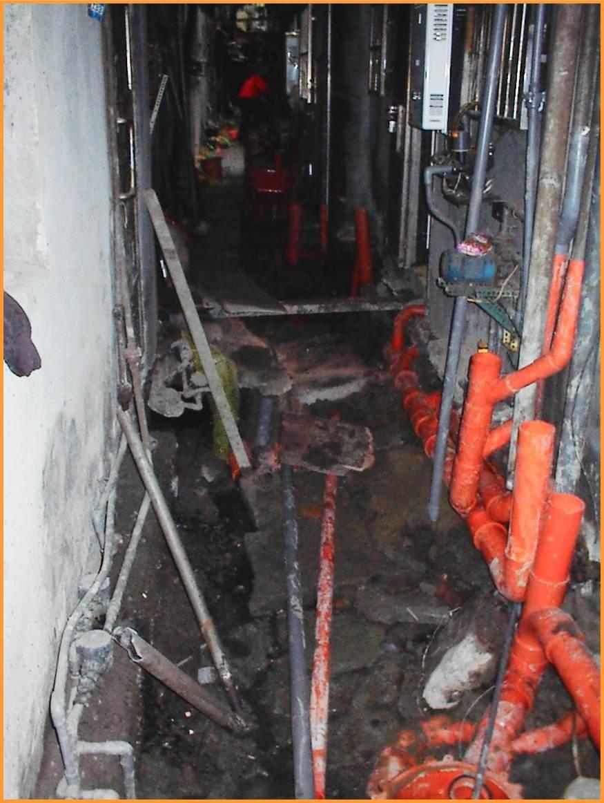 後巷地面開挖以利污水管用戶接管工程施作