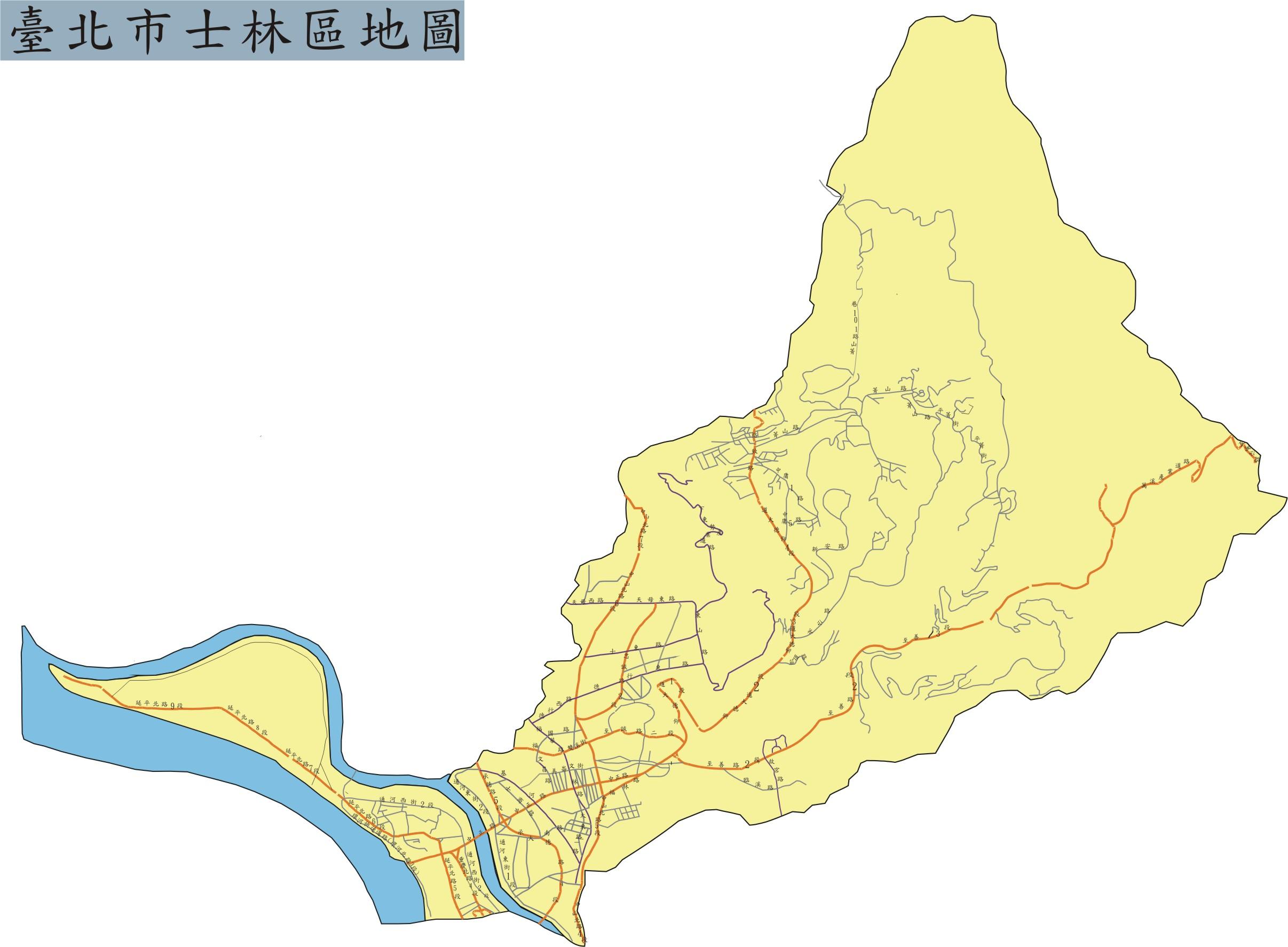 臺北市士林區地圖全景(另開新視窗)