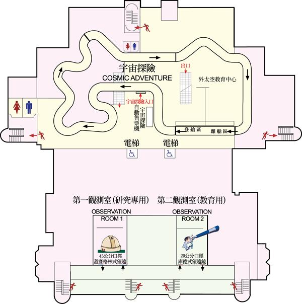天文館4樓平面圖