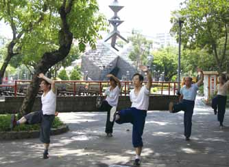 2. Xiong Wei frequently visits 228 Memorial Peace Park to practice.