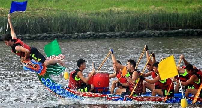 The annual dragon boat race