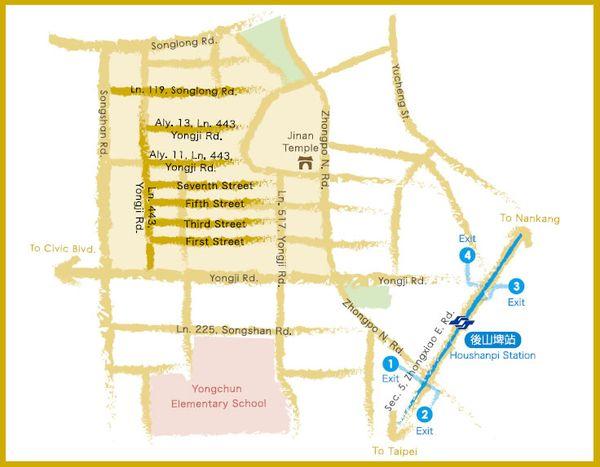 Wufenpu map