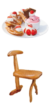 strawberry treats; a cypress chair
