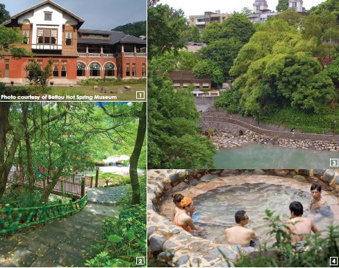 1.The Beitou Hot Spring Museum, third-grade heritage site, explores the culture and history of the Beitou hot springs. 2.The Beitou Hot Spring Park is focused on the Beitou Stream running down its center, covered with pleasant green. 3.Hell Valley, an enchanting fairyland always shrouded in hot-spring mist, has a water temperature of 90℃~100℃ 4.The water of the Beitou Open-Air Public Hot-Spring Baths contains beneficial traces of radium, great for convalescence, health-enhancement, and beauty embellishment.