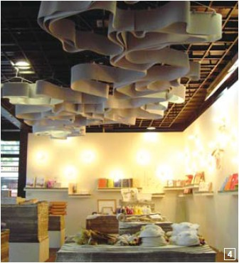 4. A display area dedicated to paper artworks at the Center for Traditional Arts.
