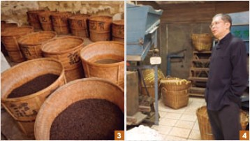 3-4. Wang Tea has preserved priceless processing equipment and paraphernalia from the olden, golden days, and offers guided explanation on tea processing and tea history.