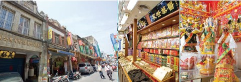 """Dadaocheng was once Taipei's most important commercial port; here is an escape to the """"city of old"""" via the historical architecture, old folk customs, fabric shops, Chinese-medicine shops, and other cultural gems."""