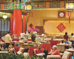 2. The Grand Garden Western Dining Room on the first floor serves up a tremendous buffet.