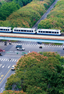 The Muzha Line was the first MRT line to be constructed.