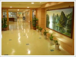 通往產房與婦科病房的長廊