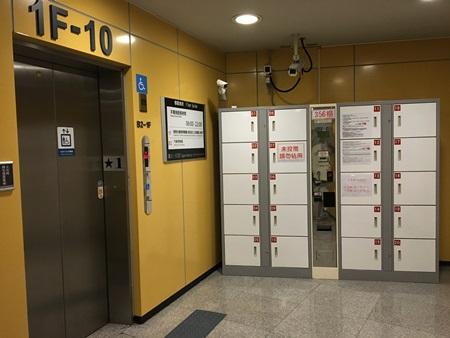 臺北小巨蛋置物櫃,位於主場館9號出入口電梯旁