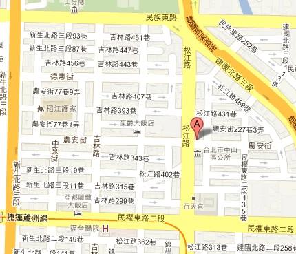 中山區公所位置圖,本所位於臺北市中山區松江路367號