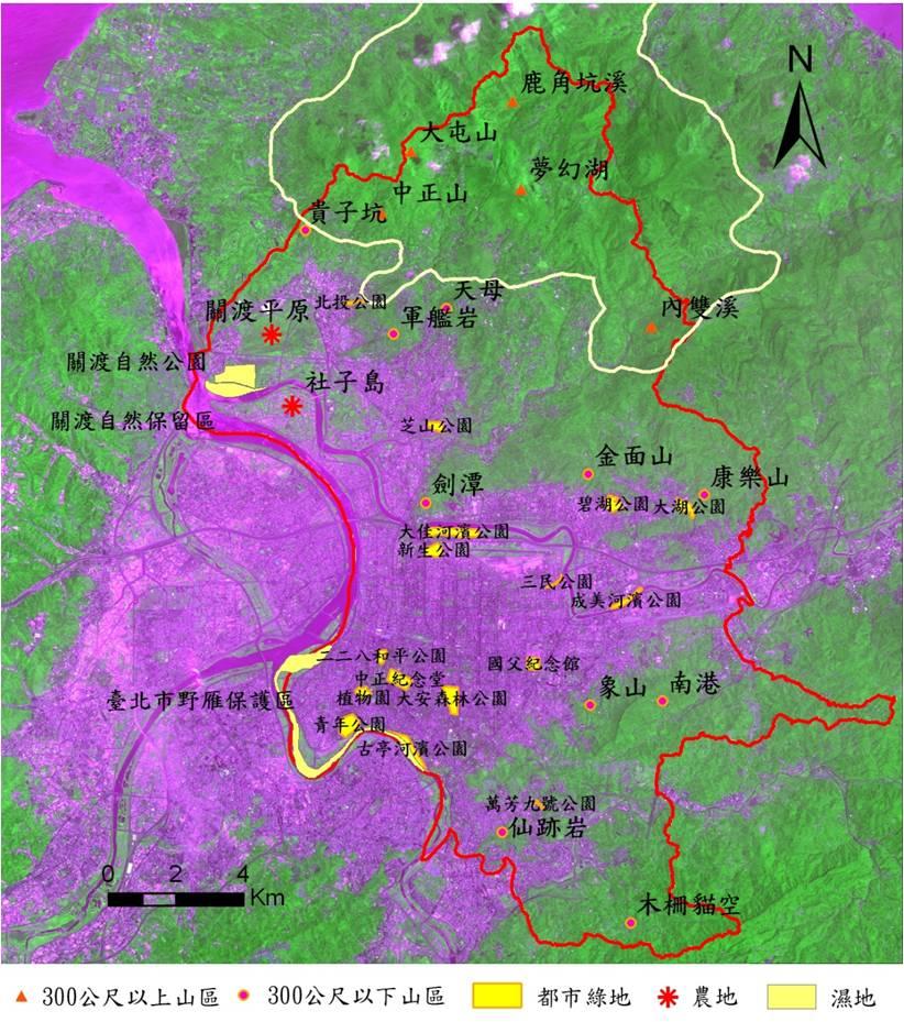 陸域調查樣區位置圖