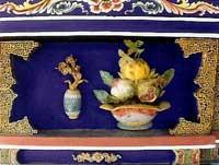 博古柱堵:花瓶、果盤