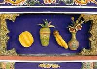 博古柱堵:香蕉、楊桃、花瓶