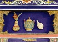 博古柱堵:瓶、壺、蒜