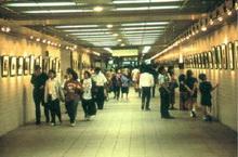 捷運地下街文化活動示意圖
