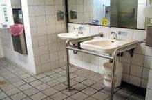 洗手台之殘障扶手示意圖