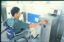 捷運殘障設施示意圖