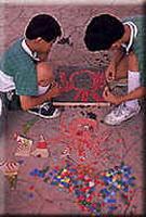 兒童的彩繪大地示意圖,共11張圖片
