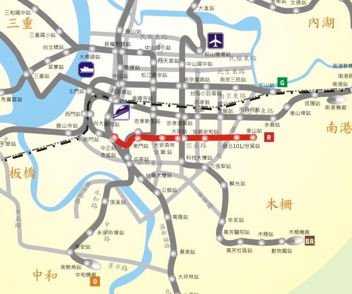 信義線路網圖
