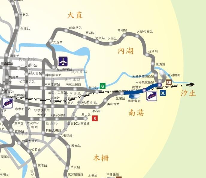 南港線東延段示意圖