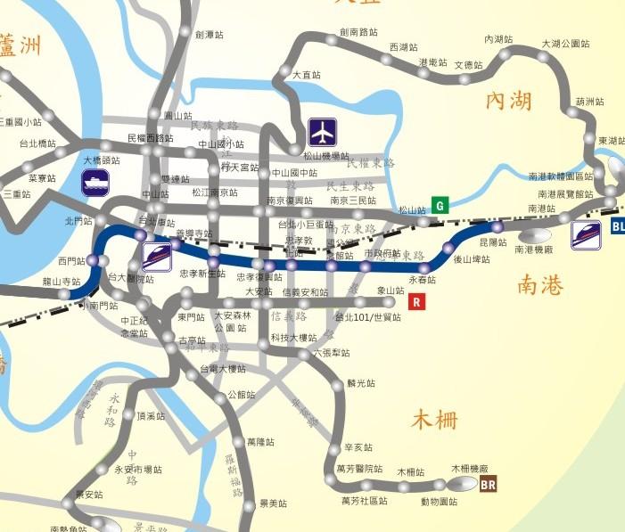 南港線路網圖