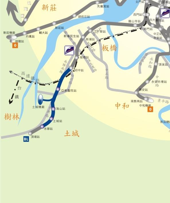 土城線路網圖