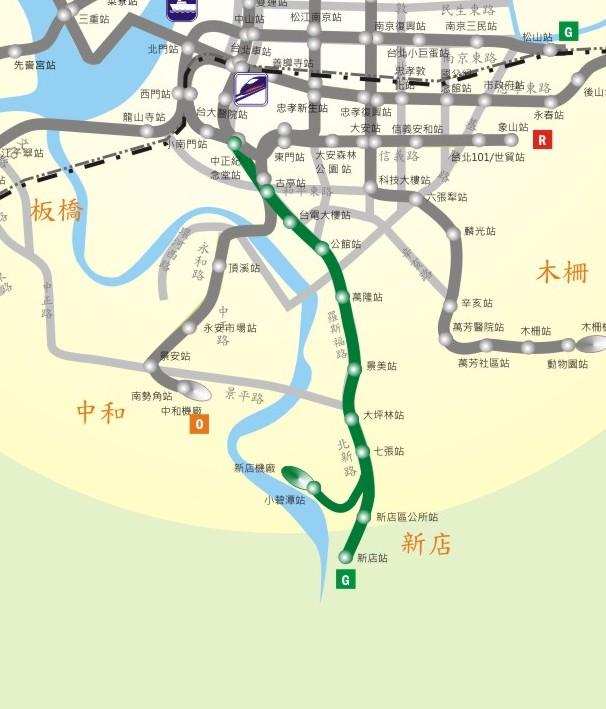 新店線路網圖