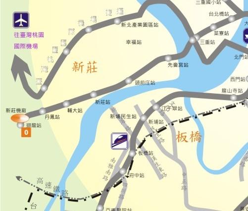 新莊線施工中路線圖