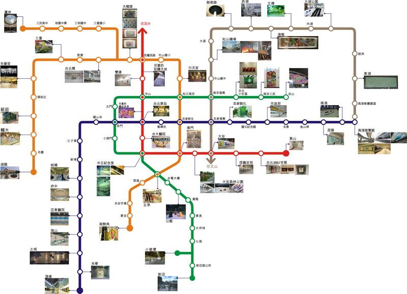 公共藝術作品導覽圖(jpg檔,另開新視窗)