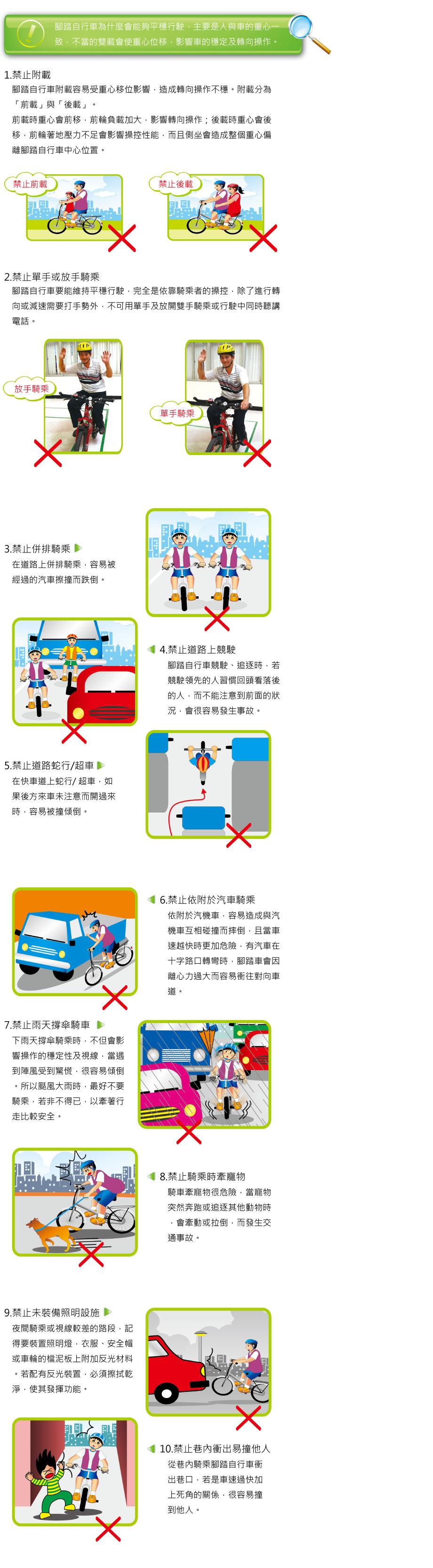 騎乘禁止行為說明圖片