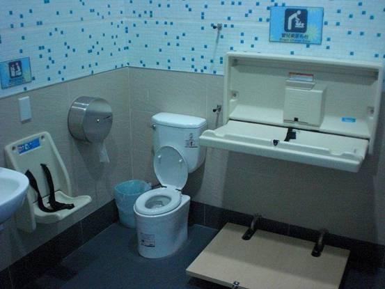 Restroom for parents with infants.