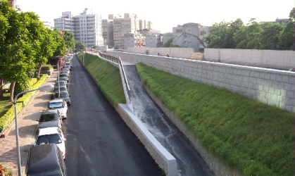 The Huang Stream, with Raised Embankment.