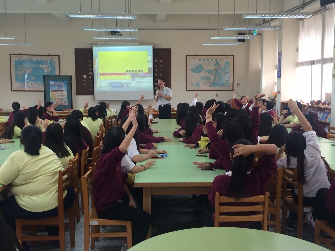 圖3:「臺北市私立金甌女子高級中學」辦理「勞動好Young前進高校講座」
