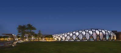 Chrysalis-shaped EXPO Hall. Provided by King Shih Architects