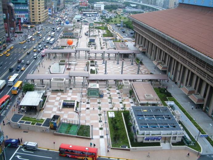 Front Plaza of Taipei Main Station.