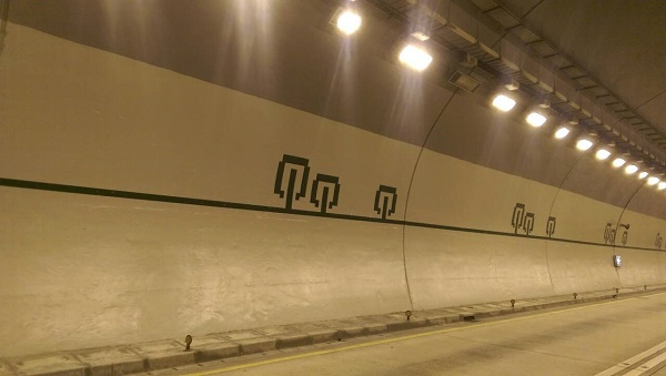 Pictures of the southwards tunnel of Xinyi Expressway