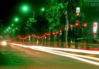 成功路四段夜間道路景觀