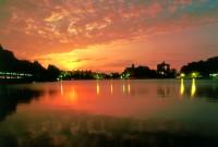 碧湖公園夕陽餘暉