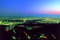內湖區中心地帶夜景