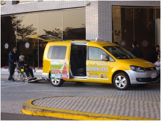 Wheelchair-accessible taxi