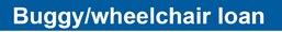 Buggy wheelchair loan