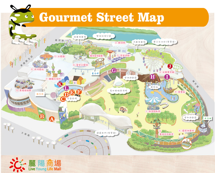 Gourmet Street Full Map
