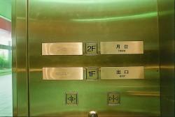 照片:無障礙電梯內點字設施