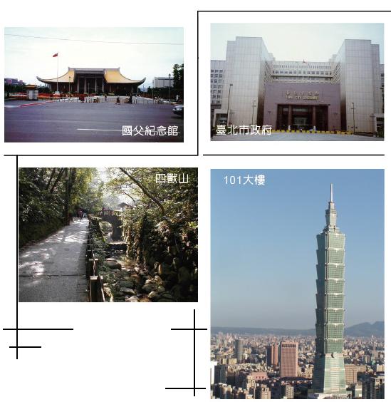 國父紀念館、臺北市政府、四獸山、101大樓