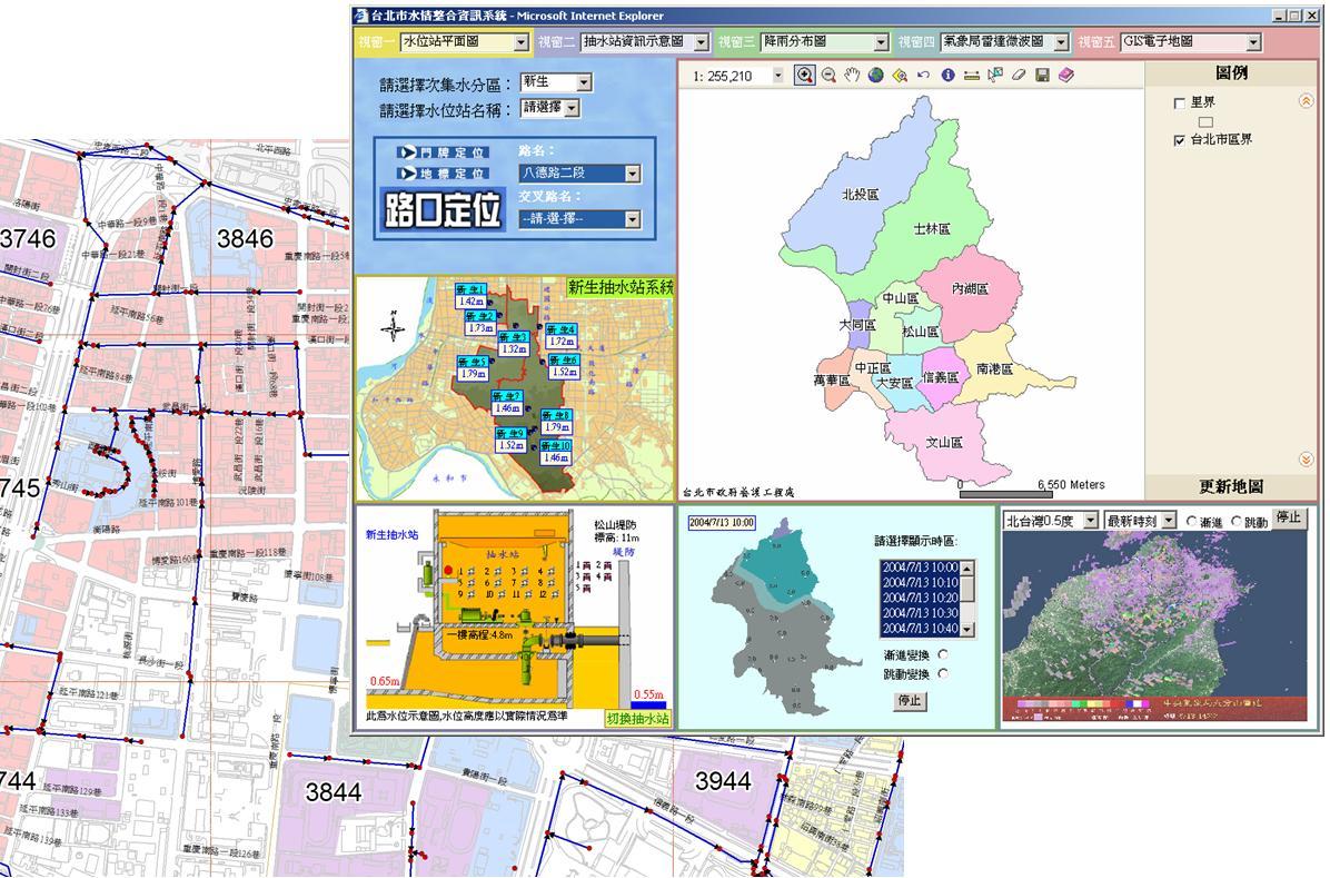 雨水下水道資訊化、科技化及自動化