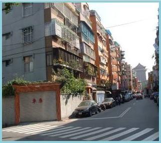 中山區第一期重劃後,街道整齊,房屋林立