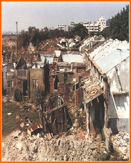 中山區第七期重劃前,土地荒廢,居住環境髒亂之一