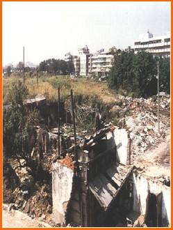 中山區第七期重劃前,土地荒廢,居住環境髒亂之二
